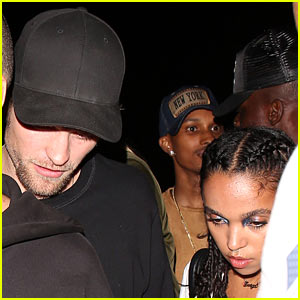 Robert Pattinson & FKA Twigs Stop By Party After Drake's Show