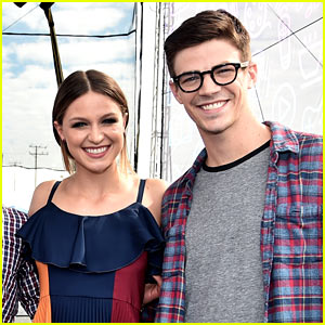 Melissa Benoist & Grant Gustin Step Out for CW Superheroes Panel at EW PopFest