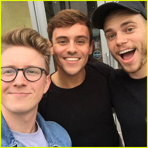 Tyler Oakley Gets Mani/Pedis With Oympians Tom Daley & Gus Kenworthy!