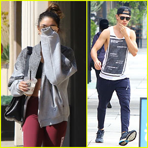 Vanessa Hudgens Works Up a Sweat with BF Austin Butler at Pilates