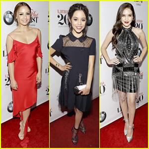 'Elena of Avalor' Stars Aimee Carrero & Jenna Ortega Hit Latina's Hot List Party Together