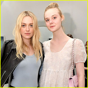 Dakota & Elle Fanning Step Out For Anton Yelchin Photography Exhibit Grand Opening