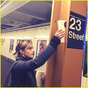 Emma Watson Hides Maya Angelou's Book Around NYC Subway, Vows to 'Fight Harder' After Election
