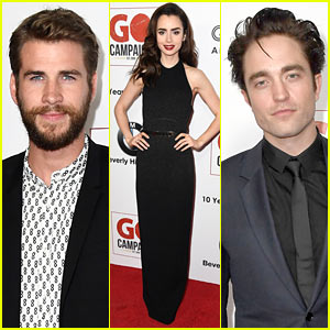 Liam Hemsworth, Robert Pattinson & Lily Collins Look Sharp at GO Campaign Gala