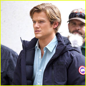 Lucas Till Spends an Early Morning on Set of His Show 'MacGyver'