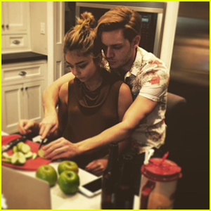 Sarah Hyland Reunites with Boyfriend Dominic Sherwood for Thanksgiving