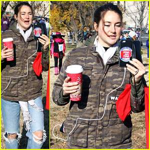 Shailene Woodley Bundles Up For Water is Life March & Rally