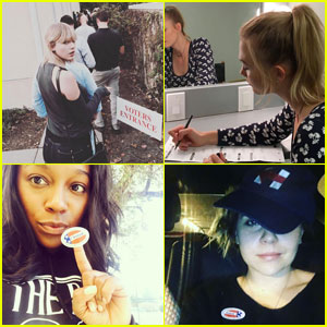 Taylor Swift & More Celebs Share Their Voting Selfies on Election Day 2016!