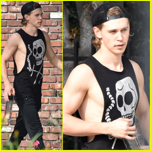 Austin Butler Puts In Some More Time at the Gym!
