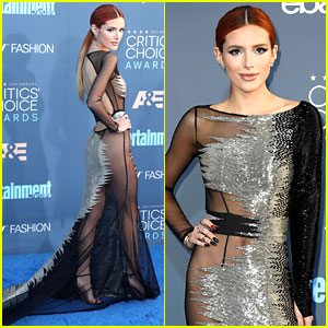 Bella Thorne Shows Lots of Skin in Her Sheer Critics' Choice Dress