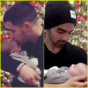 Nick & Joe Jonas Spend Christmas with Family (Including New Niece Valentina!)