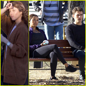 Kayla Ewell Joins Kat Graham & Paul Wesley on Set of 'The Vampire Diaries'!