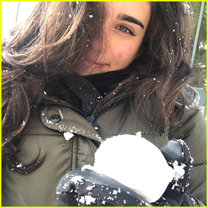 Lauren Jauregui Wiped Herself Out While Learning How To Snowboard!