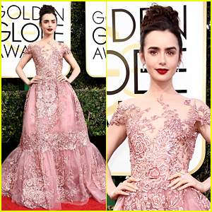 Lily Collins' Golden Globes 2017 Dress Makes Her Look Like a Princess!