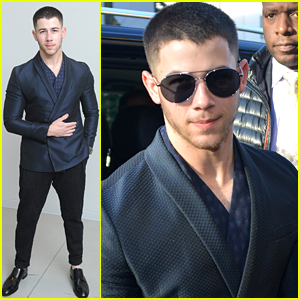 Nick Jonas Suits Up & Makes Us Swoon at Emporio Armani's Milan Fashion Show