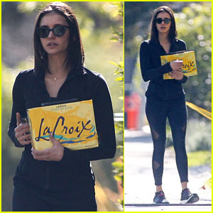 Nina Dobrev Goes Grocery Shopping While Out in L.A.