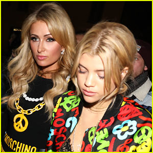 Sofia Richie Attends Moschino Fashion Show with Paris Hilton!