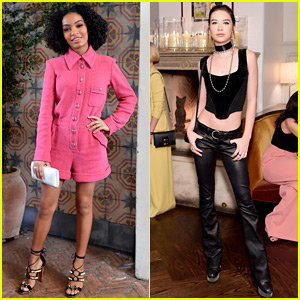 Yara Shahidi & Amanda Steele Are So Chic at W Mag's It Girls Luncheon