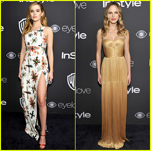 Halston Sage & Zoey Deutch Are Glam Gals at Golden Globes 2017 Party!