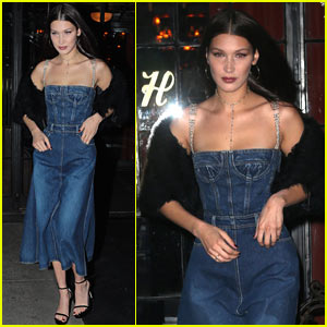 Bella Hadid Braves the Cold in Denim Dress!