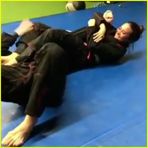 Demi Lovato Kicks Boyfriend Guilherme 'Bomba' Vasconcelos' Butt! (Video)