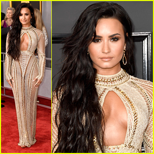 Demi Lovato is a Golden Goddess at Grammys 2017