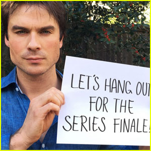 Ian Somerhalder Wants to Watch 'The Vampire Diaries' Finale With YOU!