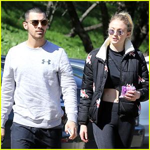 Joe Jonas & Sophie Turner Go for a Valentine's Day Hike!