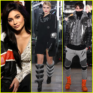 Kylie Jenner Watches Sofia Richie & Anwar Hadid Strut Their Stuff at Philipp Plein's NYFW Show