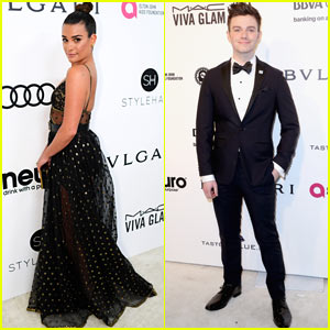 Lea Michele Stuns at Elton John AIDS Foundation Oscars Party