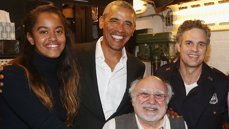 Malia Obama Watches A Broadway Show With Dad Barack