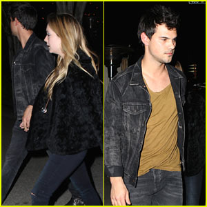 Taylor Lautner Holds Hands with Girlfriend Billie Lourd on Date Night