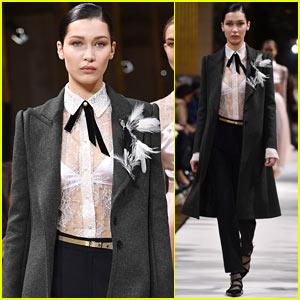 Bella Hadid Hits the 'Lanvin' Runway During Paris Fashion Week