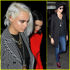 Cara Delevingne Shows Off Platinum Blonde Braided Bob