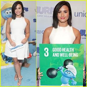 Demi Lovato Goes Pretty in White for 'The Smurfs' Premiere!