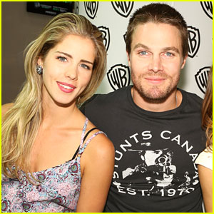 Arrow's Emily Bett Rickards & Stephen Amell Can't Stop Taunting Each Other on Twitter With Fitness Challenges