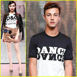 Sofia Carson & Cameron Dallas Step Out for Dolce&Gabbana Party!