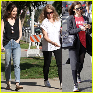 Lily Collins Celebrates Birthday With Phoebe Tonkin & Bella Heathcote