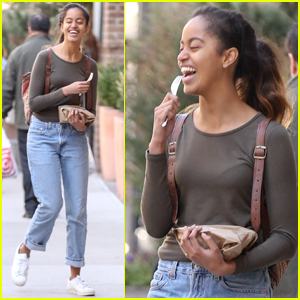 Malia Obama Steps Out For Lunch With a Friend