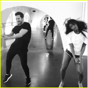 Normani Kordei Teaches DWTS Partner Val Chmerkovskiy The 'Work From Home' Choreography - Watch the Vid!