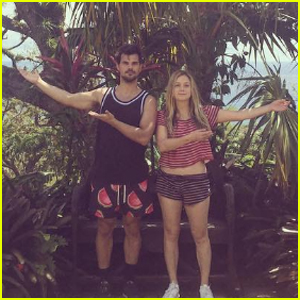 Billie Lourd & Taylor Lautner Are a Cute Couple in St. Barts