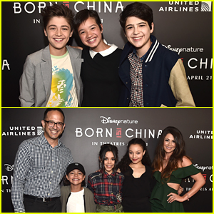 Your Fave Disney Stars Attended The 'Born in China' Premiere This Week!