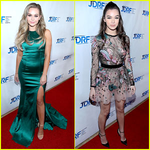 Brec Bassinger & Hailee Steinfeld Glam Up For JDRF Imagine Gala 2017