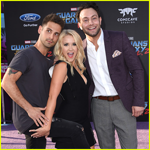 Emily Osment Gets Goofy at 'Guardians' Premiere with Jean-Luc Bilodeau & Jonathan Sadowski