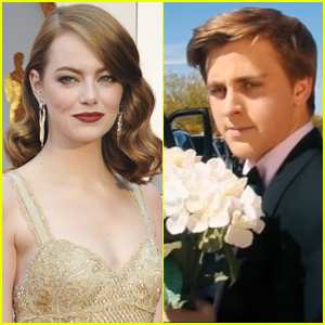 Emma Stone Just Got Asked to Prom With a 'La La Land' Inspired Invite - Watch It!