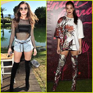 Hailee Steinfeld Wears Two Cool Looks for Coachella Day One!