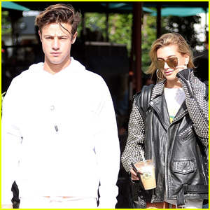Cameron Dallas & Hailey Baldwin Keep Busy in LA