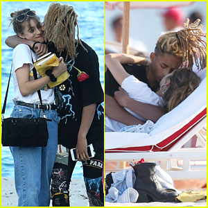Jaden Smith & Odessa Adlon Have Romantic Beach Day in Miami