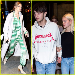 Anwar Hadid & Girlfriend Nicola Peltz Step Out in Adorable Matching Outfits