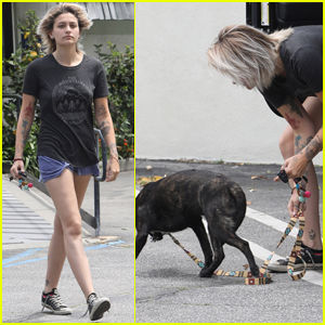 Paris Jackson Heads to the Vet With Her Dog Koa